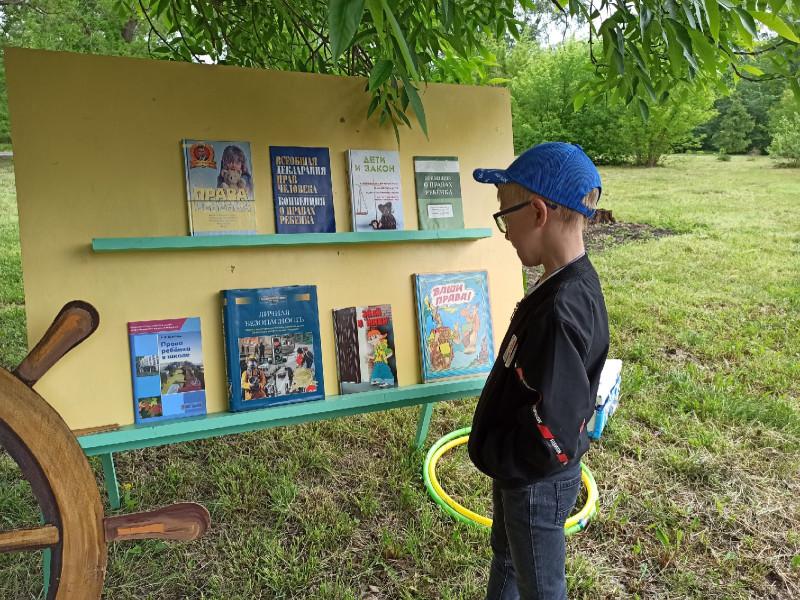 Выставка с литературой о правах детей