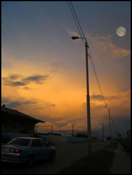 дорога-закат