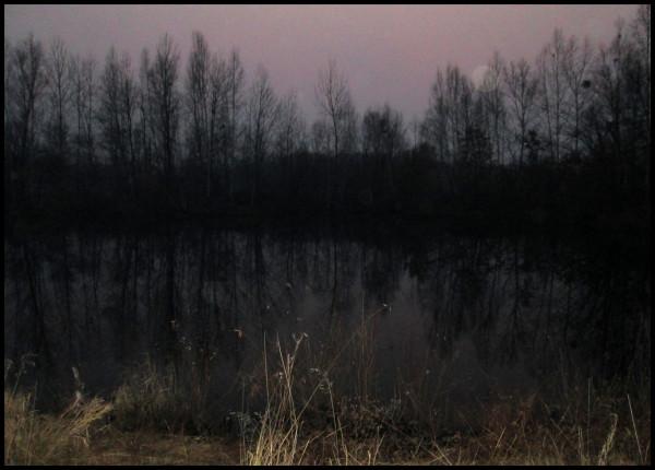 вечер-озеро