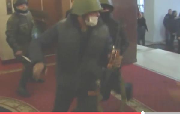 оружие у майдаунов отель Украина1
