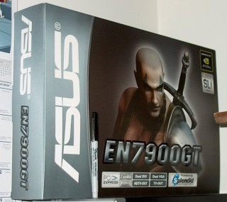 ASUS 7900 GT box with Sharpie for scale