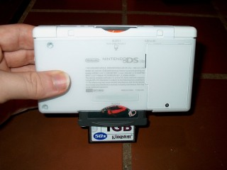 DS Lite with cards