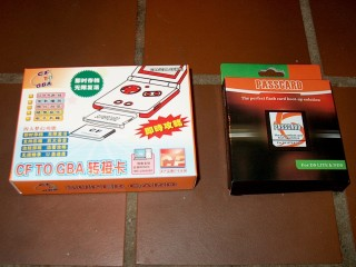 SuperCard and Passcard boxes (front)