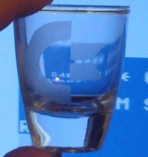 Commodore shot glass