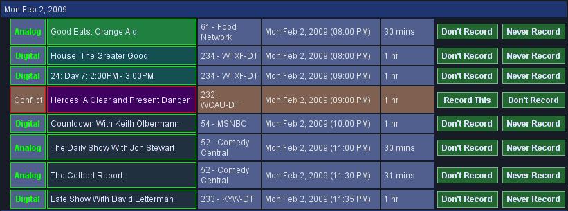 MythTV screenshot: Heroes, 24