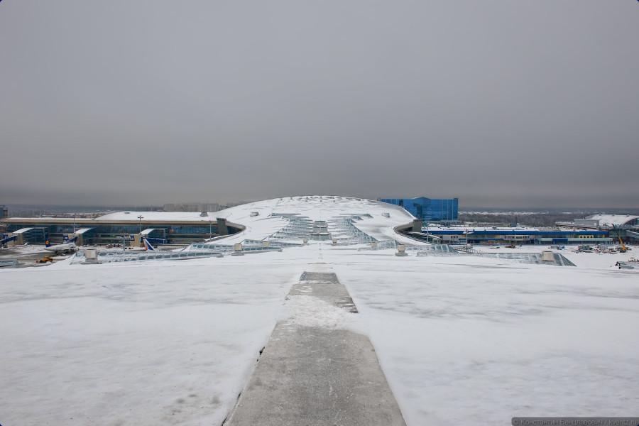 Аэропорт Внуково, крыша терминала A
