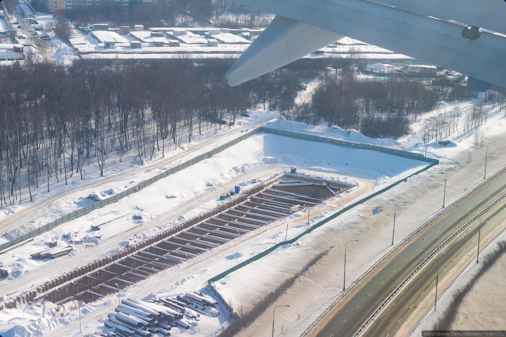 14. Дальше до станции «Внуково» начинается щитовая проходка.