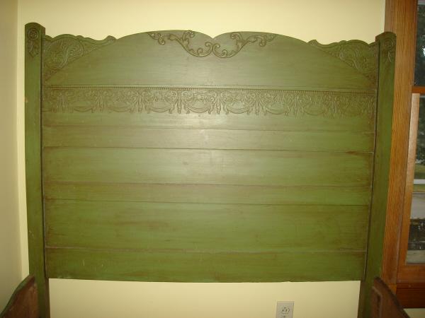 Green headboard