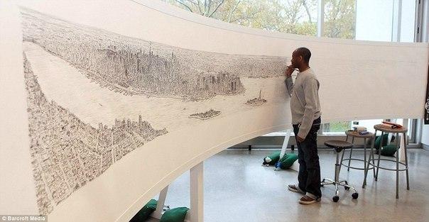 Стивен Уилтшир рисует Нью-Йорк