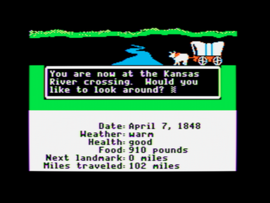 Версия Oregon Trail с Apple II