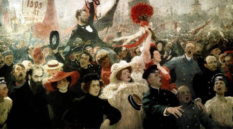 картина И.Репина - 17 октября 1905 года