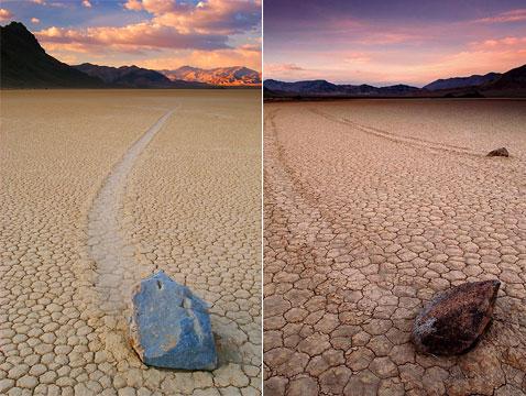 Долина смерти и движущиеся камни