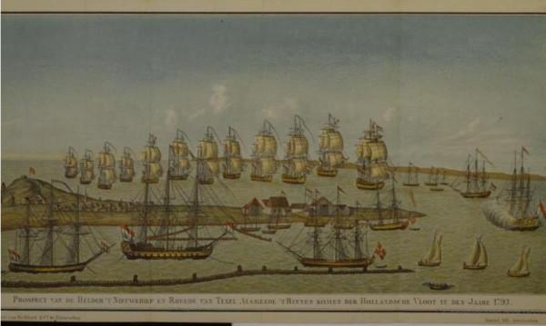 Голландская эскадра на рейде Ден-Хеллдера 1793 г.