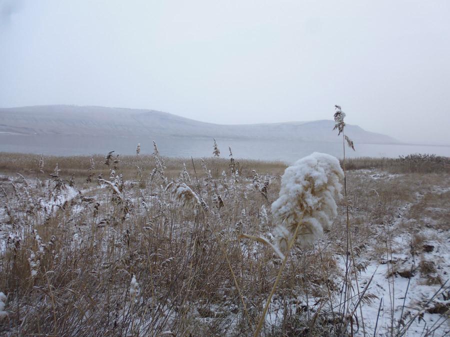 Озеро Учум в начале зимы