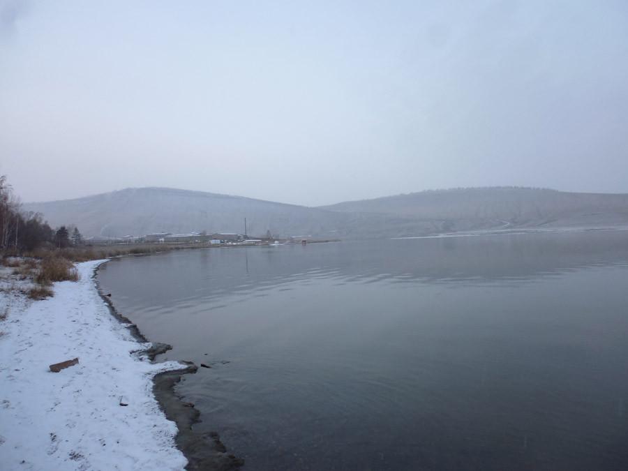 Озеро Учум в начале зимы P1030743