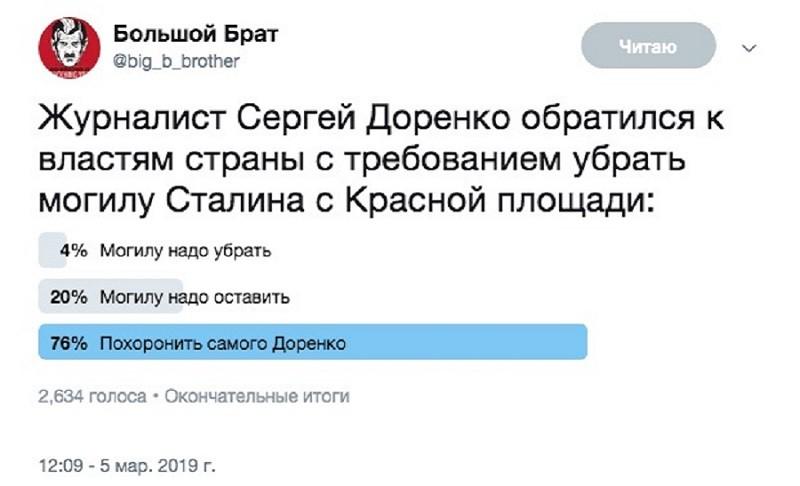 Доренко - голосование