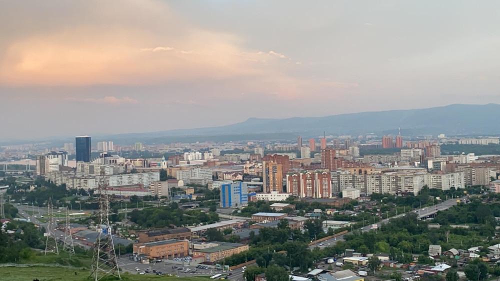 Виды Красноярска со смотровой площадки Караульной горы 63