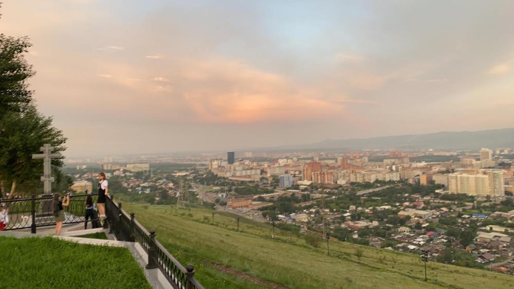 Виды Красноярска со смотровой площадки Караульной горы 64