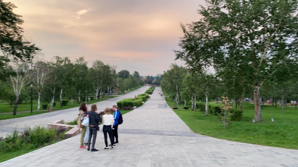 Виды Красноярска со смотровой площадки Караульной горы 65