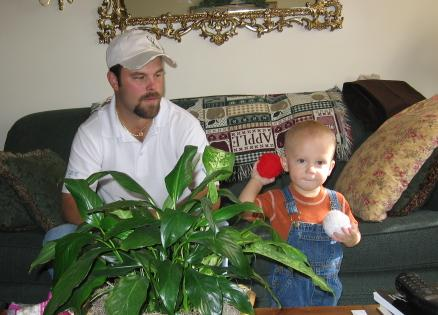 Yarn throwing with my nephew