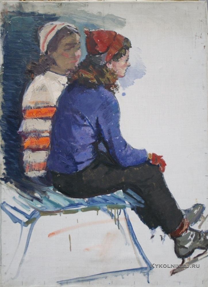 Титов Ярослав Викторович (1906-2000) «На катке» 1952