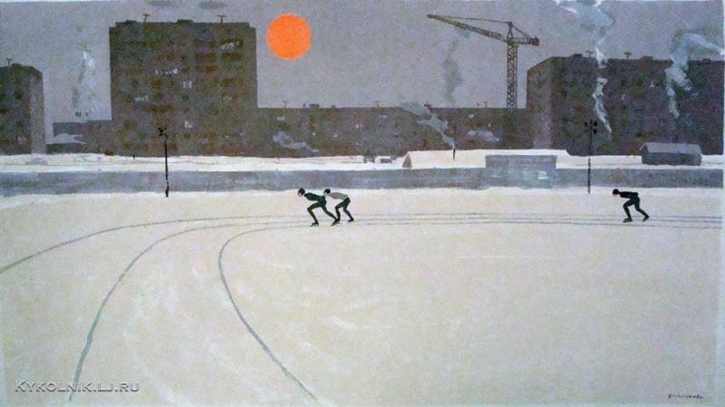 Финогенова Млада Константиновна (Россия, 1941) «Стадион Динамо» 1962