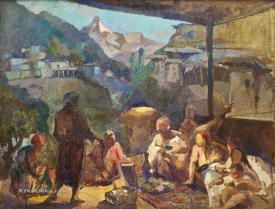 Заколодин–Митин Алексей Иванович (1892-1950) «Первая лампочка в кишлаке» 1937