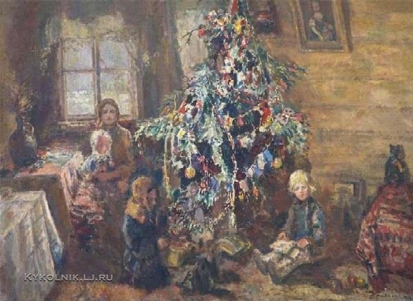 Радимов Павел Александрович (1887-1967) «У новогодней ёлки» 1943