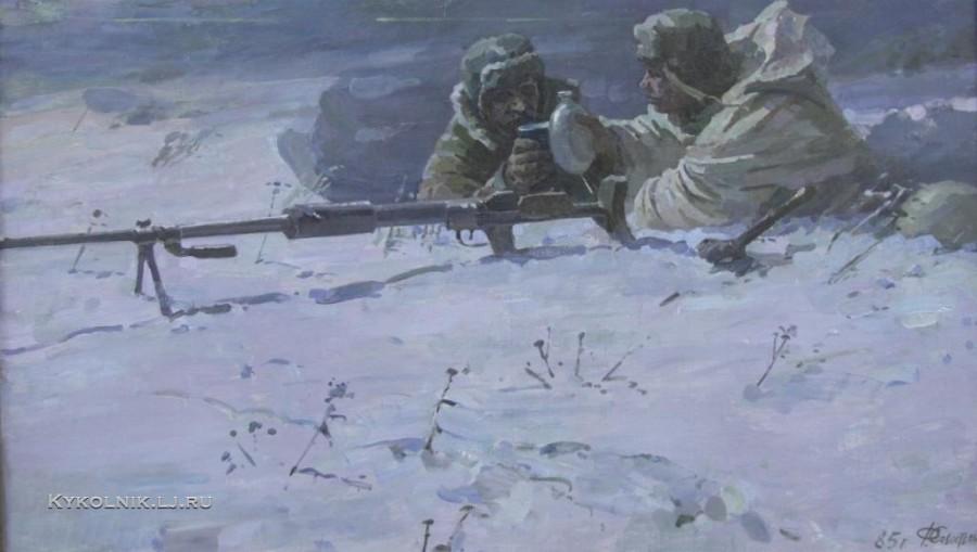Севостьянов Федор Васильевич (1924-2012) «За Победу. Новогодняя ночь. 1985.