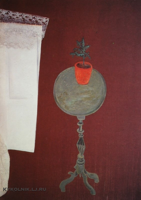 Штеренберг Давид Петрович (1881-1948) «Столик и ёлка» начало 1920-х