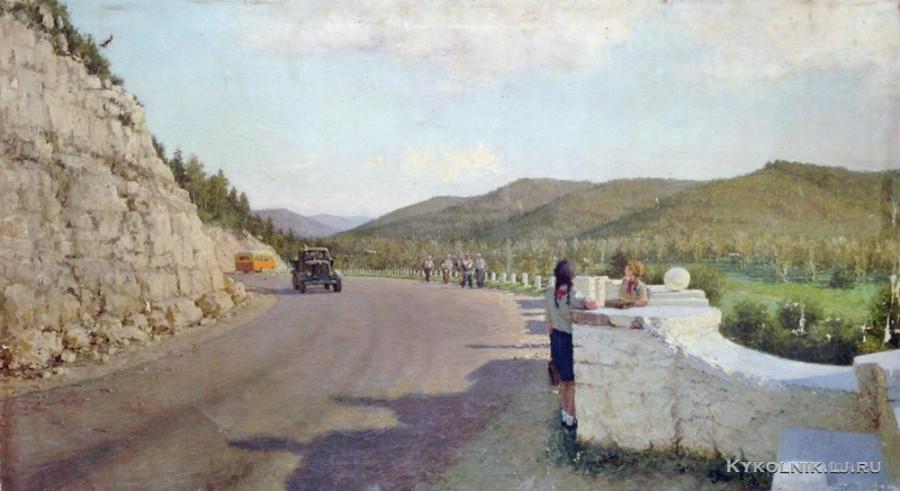 Зайцев Евгений Алексеевич (1908-1992) «Автобус ушёл» 1954