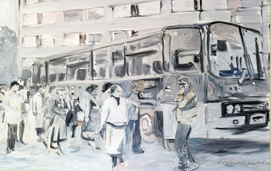 Мартин Саар (Martin Saar) (Эстония, 1980) «На автовокзале. Перед отъездом»