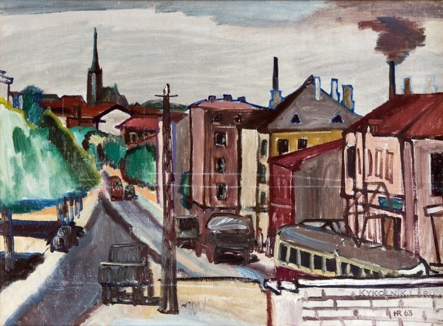 Рооде Хенн Аугустович (1924-1974) «Тартуское шоссе» 1963