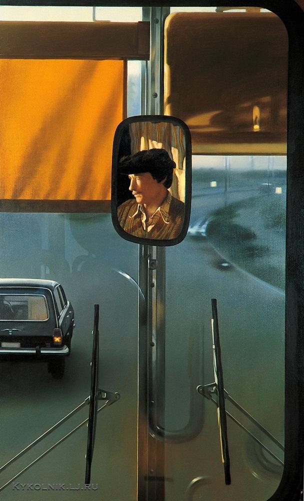 Файбисович Семён Натанович (Россия, 1949) «Водитель Икаруса» из цикла «Рейсовый автобус» 1984