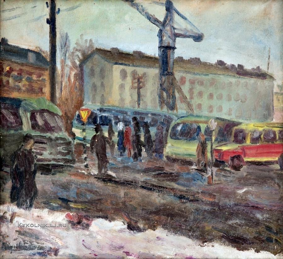 Эспе Нигуль (1907-1970) «Вид на Тарту» 1960