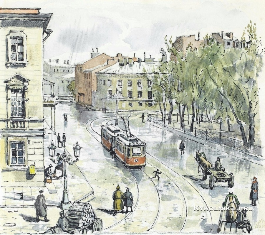 Бенуа Николай Александрович (1901-1988) «Иллюстрированное меню»  18 июня 1923 - копия