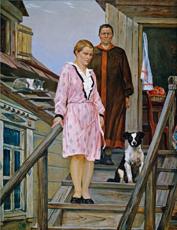 Дейнека Александр Александрович (1899-1969) «Мать и сестра» 1954