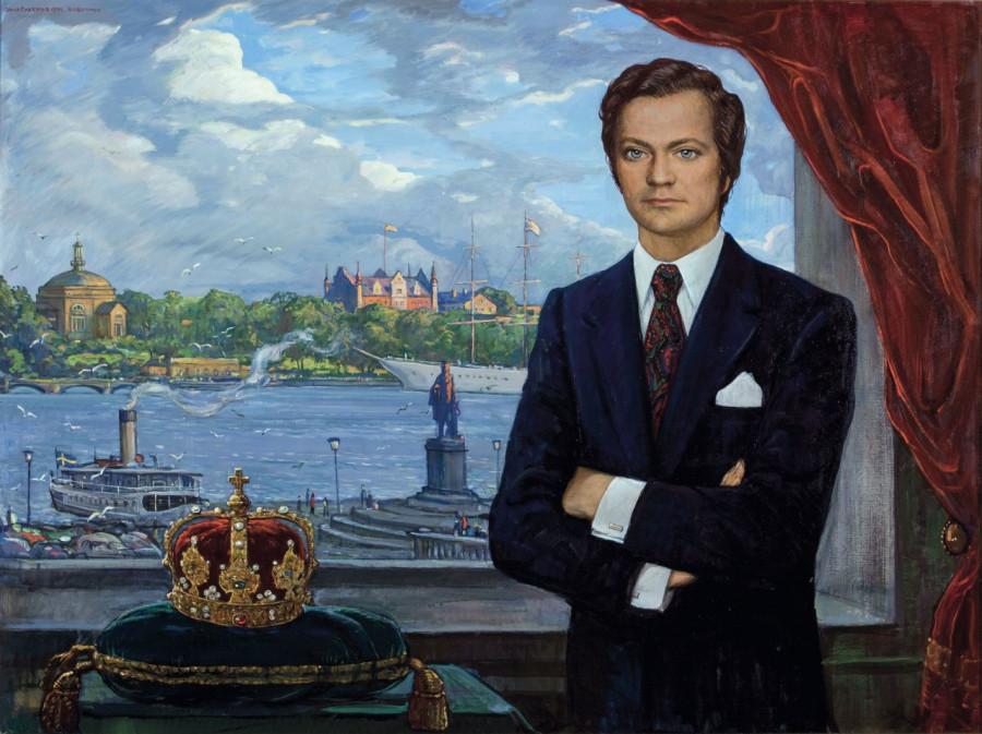 Глазунов Илья Сергеевич (1930) «Портрет короля Швеции Карла XVI Густава» 1974