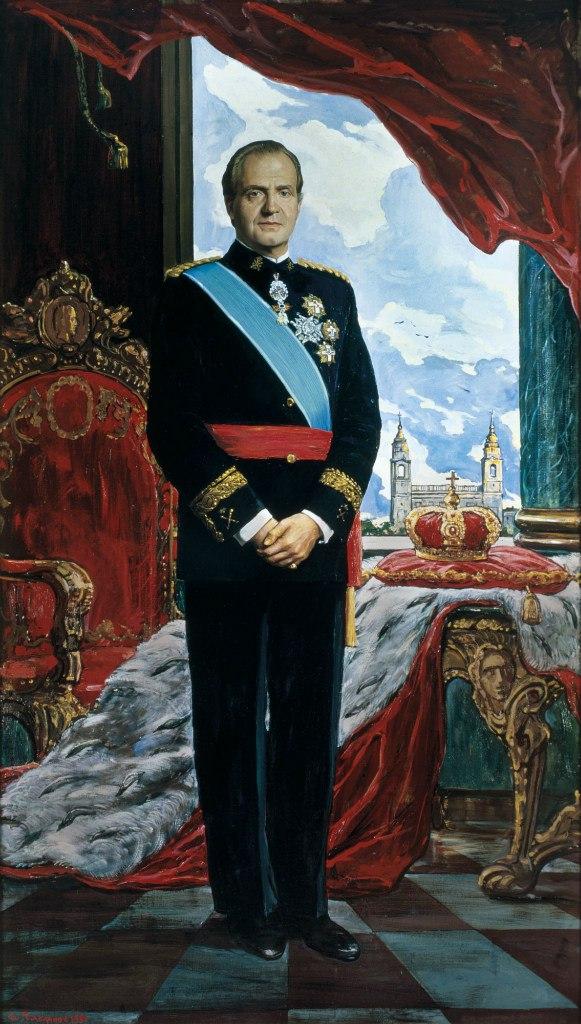 Глазунов Илья Сергеевич (1930) «Портрет короля Испании Хуана Карлоса I» 1991
