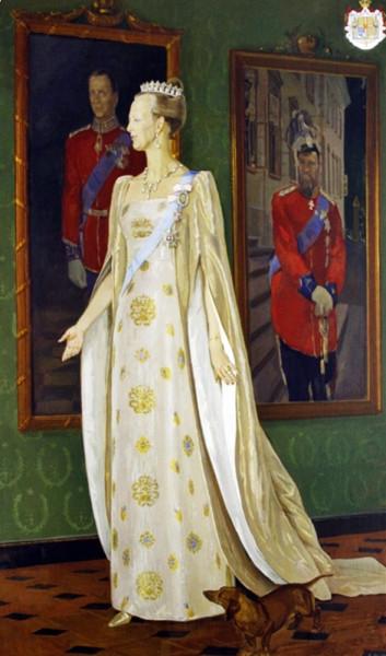 Жилинский Дмитрий Дмитриевич (1927-2015) «Портрет Королевы Дании Маргрете II» 1993