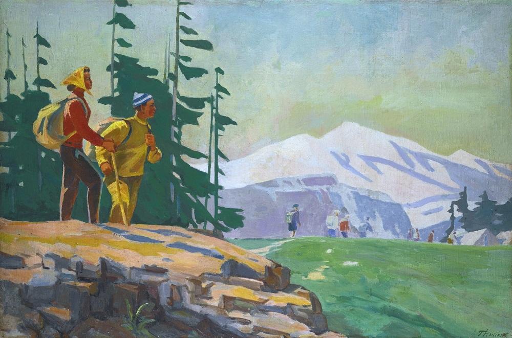 Нисский Георгий Григорьевич (1903-1987) «Альпинисты» а