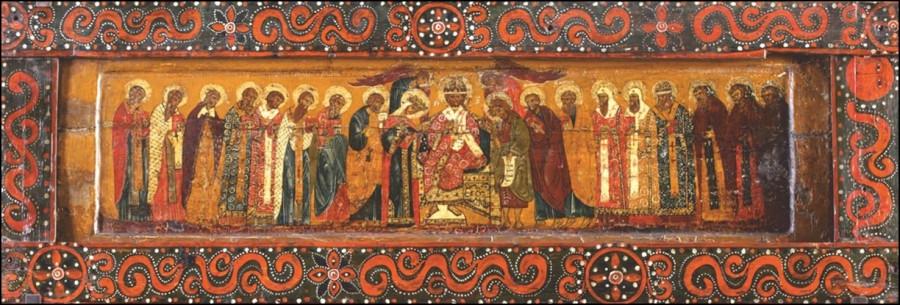 Деисус. XVII век. Северные письма. Из собрания Пермской художественной галереи