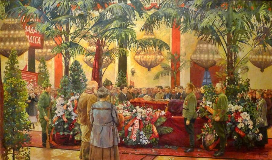 Бродский Исаак Израилевич (1883-1939) «У гроба вождя (У гроба Ильича)» 1925
