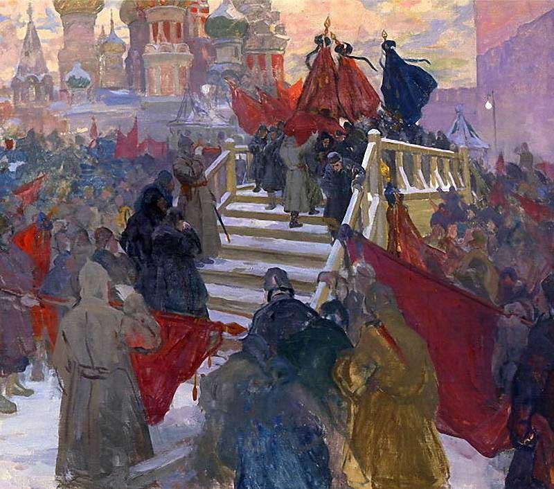 Горюшкин-Сорокопудов Иван Силыч (1873-1954) «Похороны В. И. Ленина». 1930-е