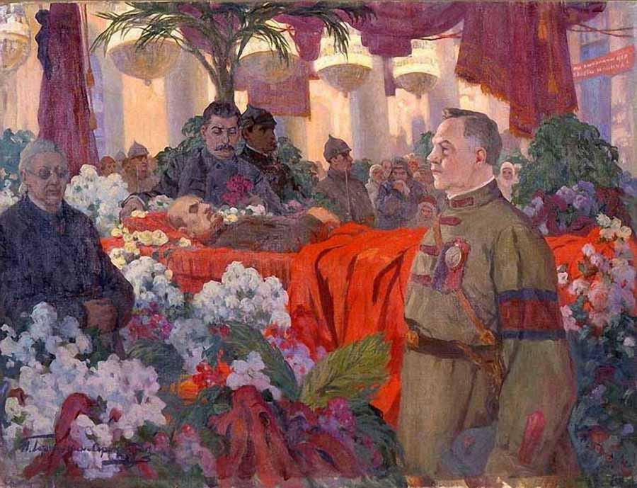 Горюшкин-Сорокопудов Иван Силыч (1873-1954) «Сталин у гроба Ленина»
