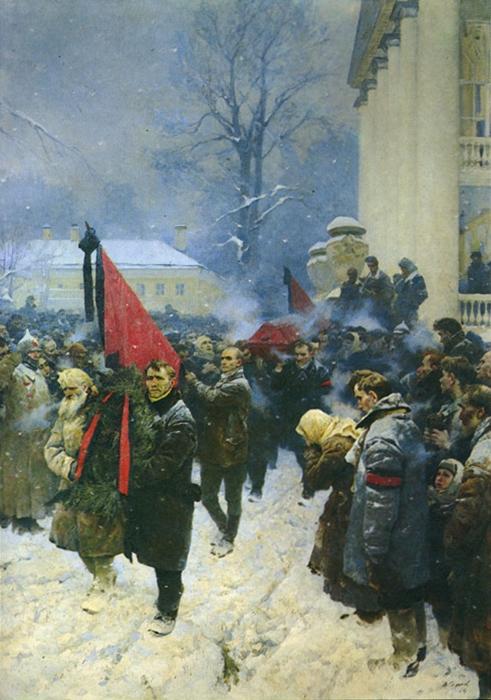 Серов Владимир Александрович (1910-1968) «Похороны В.И. Ленина»