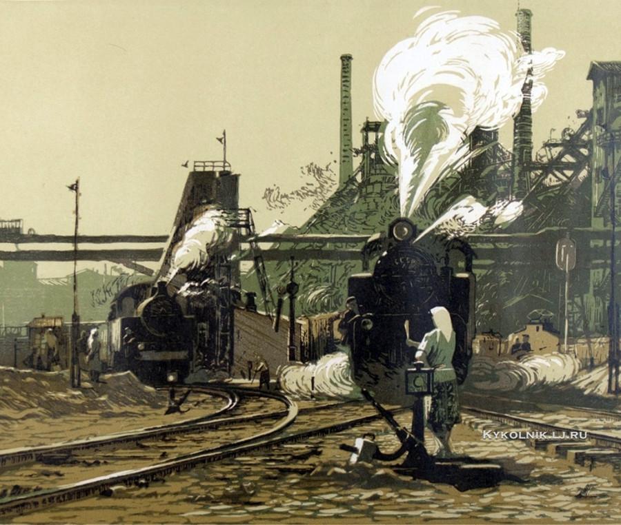 Ветрогонский Владимир Александрович (1923-2002) «На заводских путях» 1957
