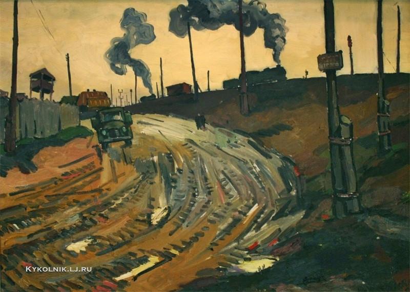 Крестовский Ярослав Игоревич (1925-2003) «Маневровые паровозы» 1959
