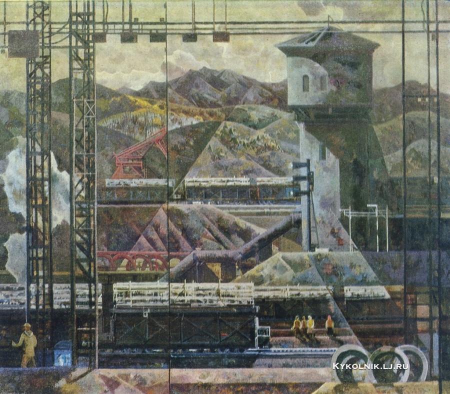 Пантелеев Александр Васильевич (1932-1990) «На станции Бианка» 1981
