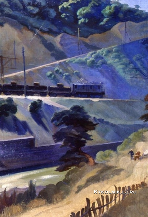Рянгина Серафима Васильевна (1891-1955) «Два транспорта на Сурамском перевале» 1934